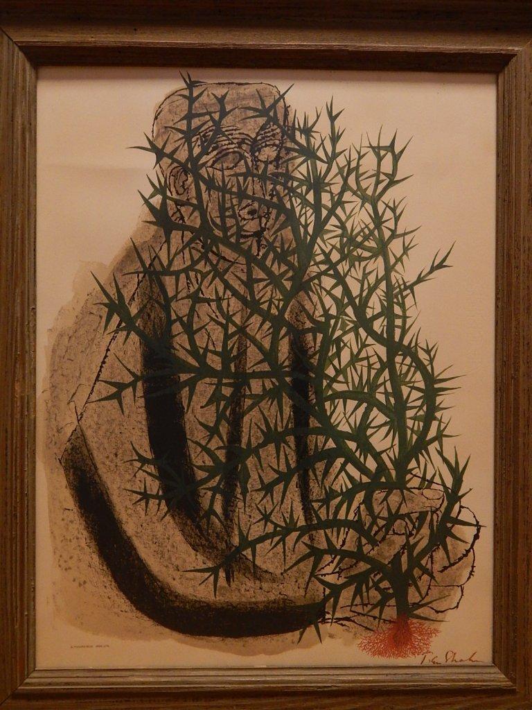 "Ben Shahn ""The Blind Botanist"" Signed Lithograph"