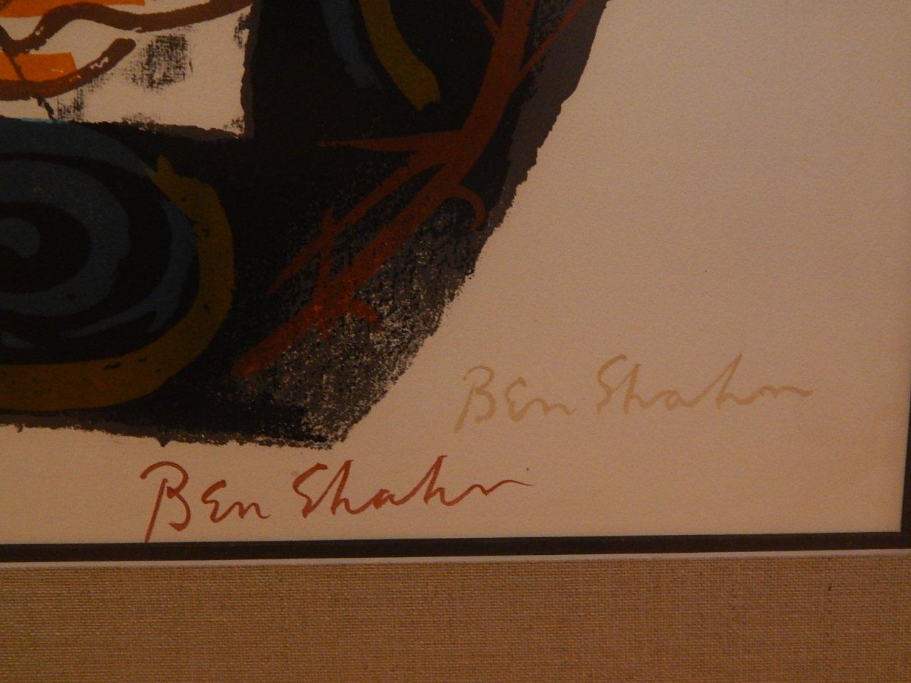 Ben Shahn Signed Lithograph