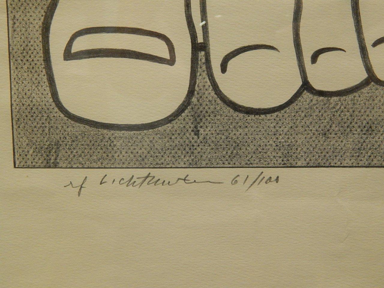 """Roy Lichtenstein """"Foot Medication"""" 61/100 1963"""