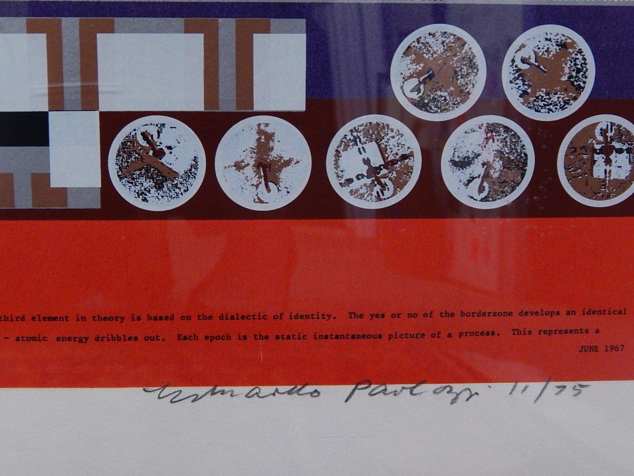 Sir Eduardo Paolozzi Screenprint 1975