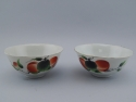 Pair Chinese Bowl with Peaches