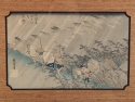 Hiroshige Driving Rain Woodblock Print 1830s