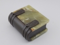 Green Onyx and Bronze Book-Form Box