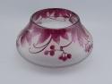 Legras Cameo Glass Low Bowl