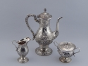 S. Kirk & Son Co. Sterling Silver Repousse Coffee Service