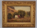 "19th Century Wentworth ""Mexican Camp"" Texas Painting"