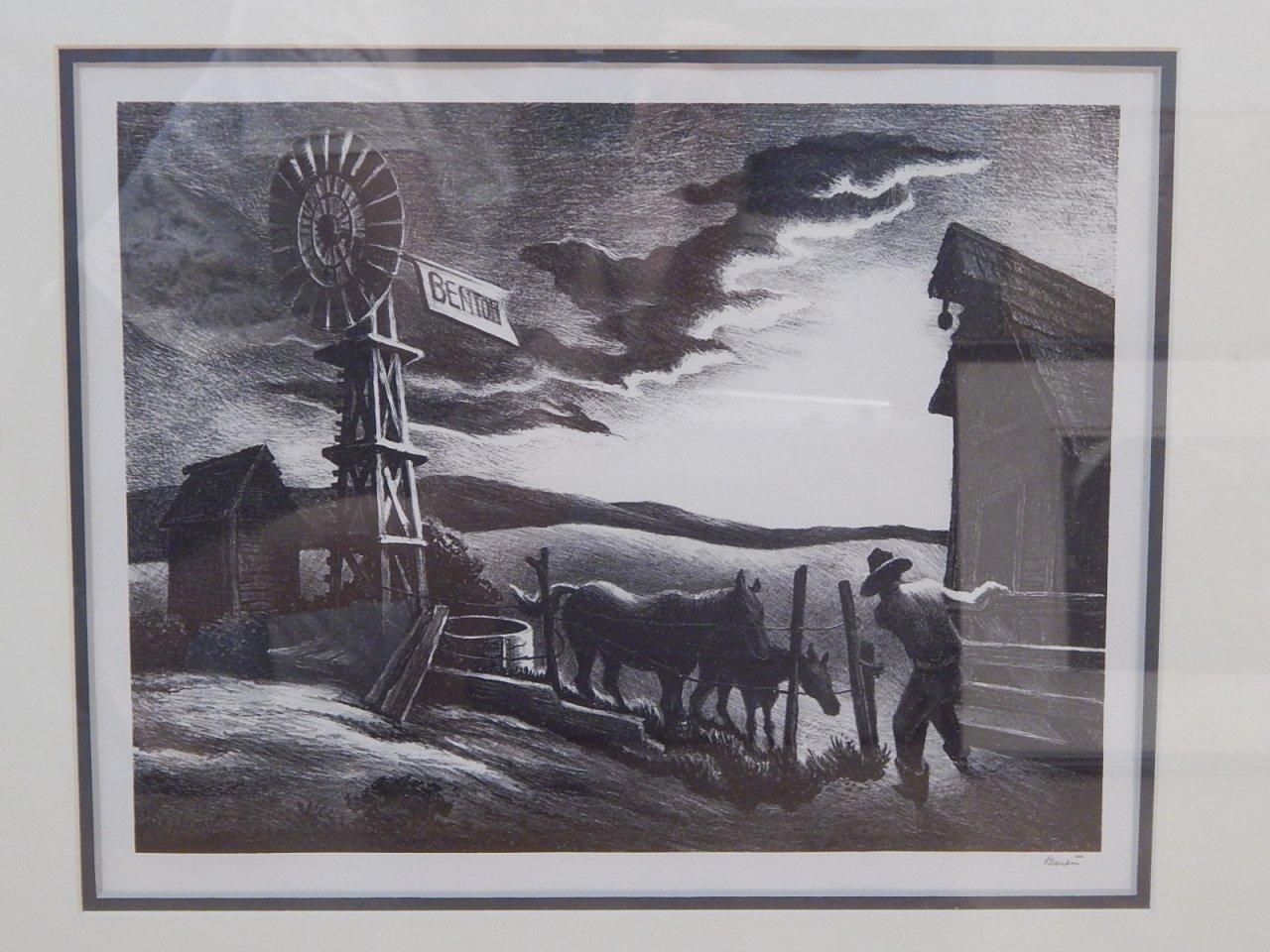 """Thomas Hart Benton """"Nebraska Evening"""" 1941 FATH 45"""