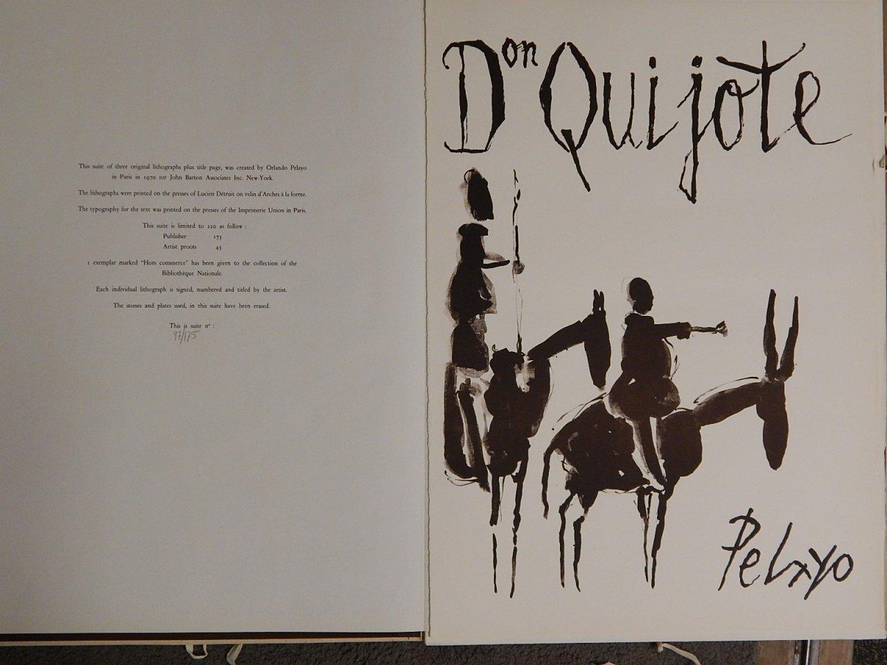 "Orlando Pelayo ""Don Quijote"" Folio of Signed Prints"