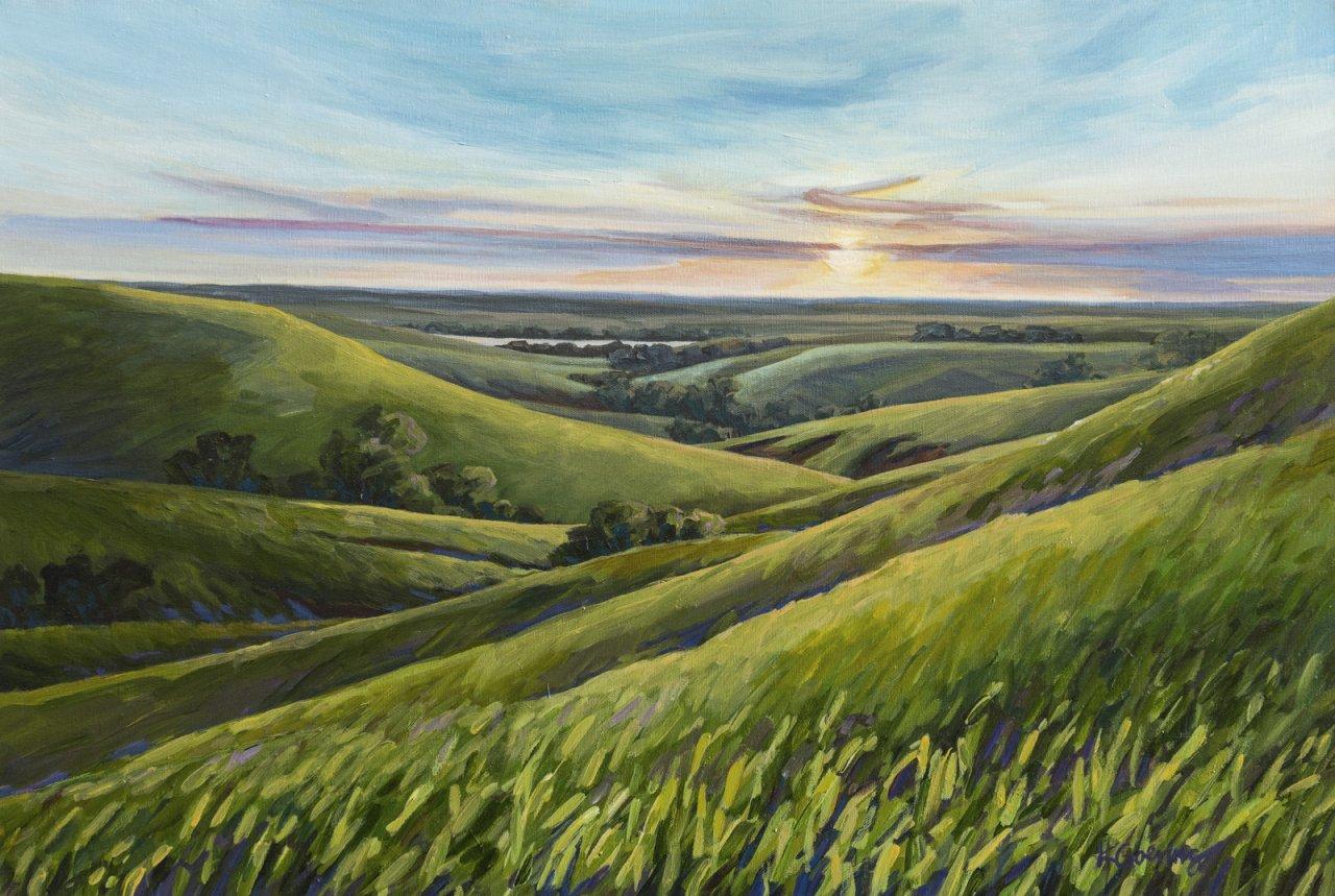symphony in the flint hills prairie art auction   kc