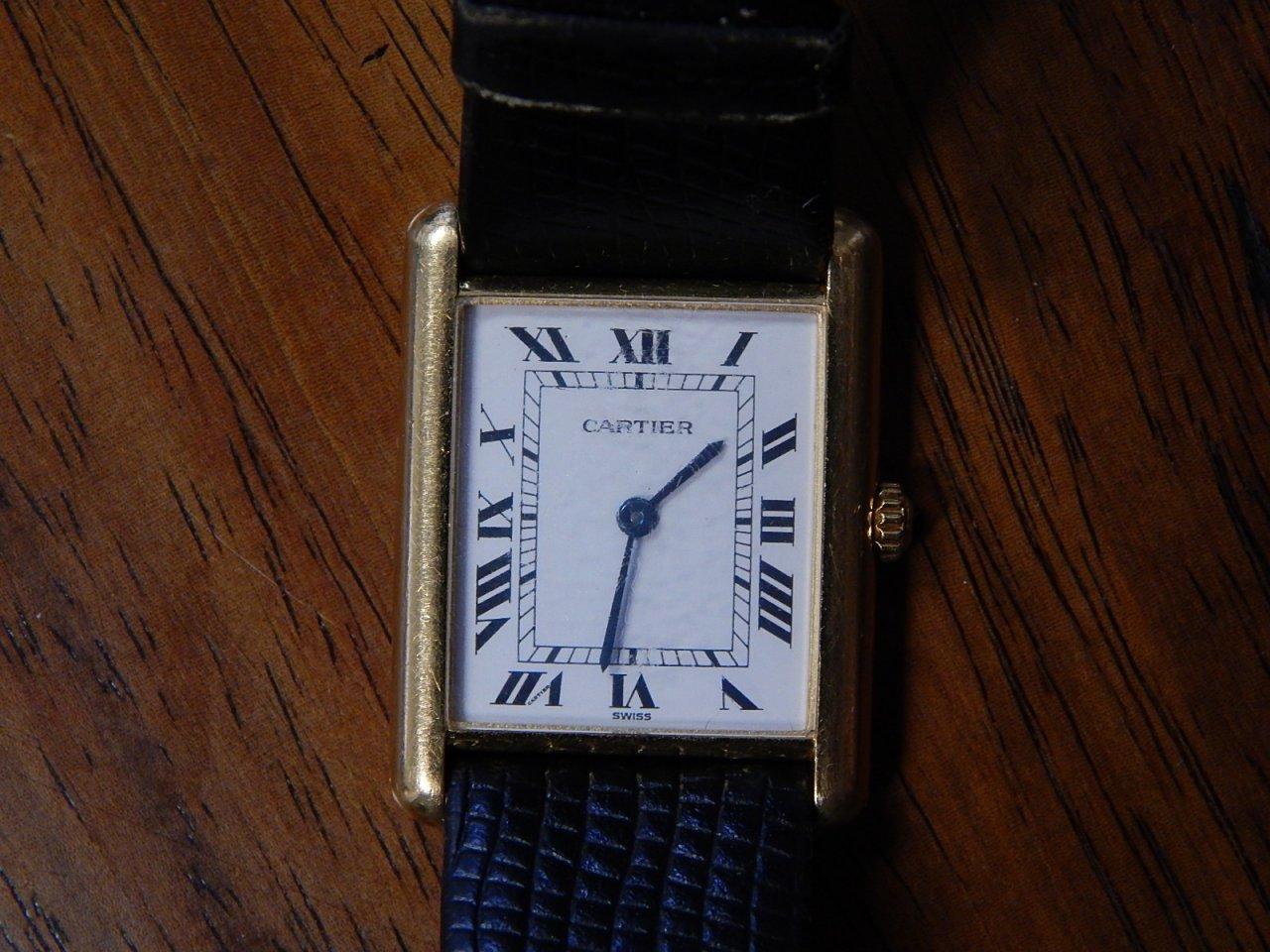 Cartier 18k Gold Watch